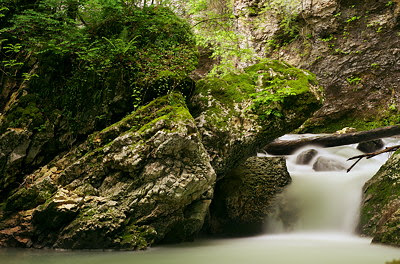 Springtime waterfall in Fornant river