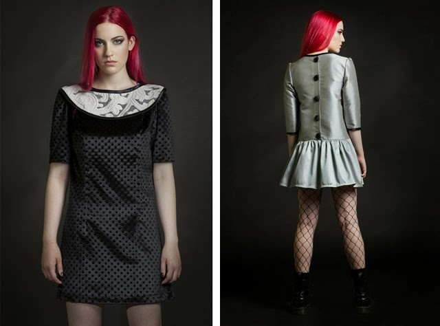yiddish chutzpah, punk, silver dress, velvet dress