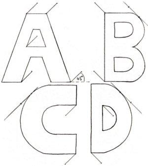d alphabet names  3d Letters4