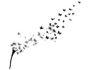 dandelion tattoo butterfly