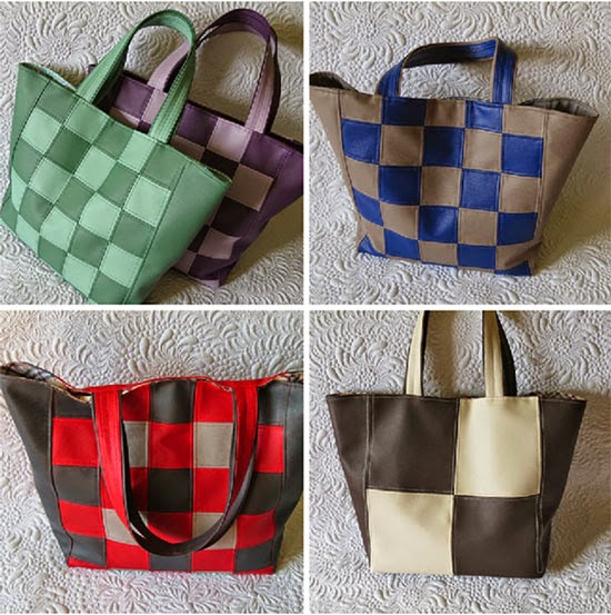 Faux leather Tote Bag Patterns