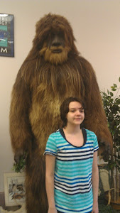 Tobi meets Bigfoot!