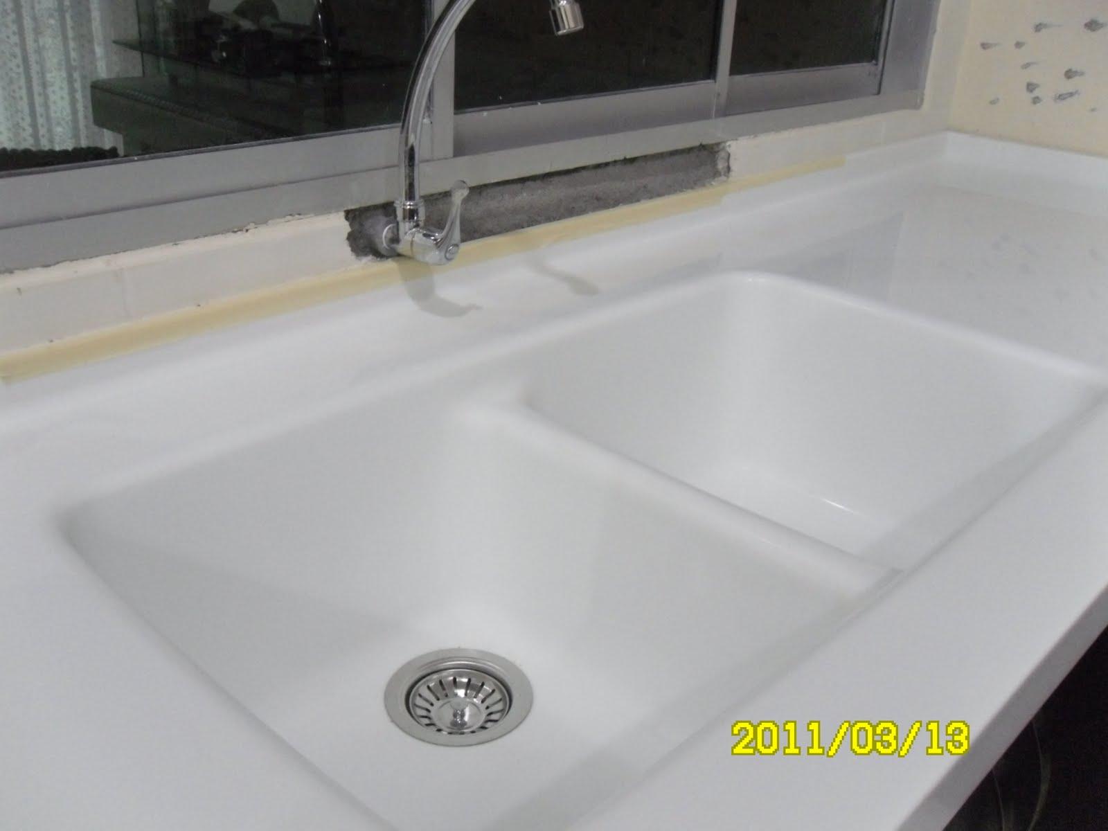 Kemas kan sinki yang diperbuat dari solid surface ni:)