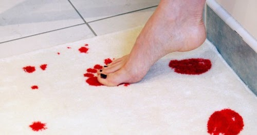 Kiss tomorrow goodbye bath mat that turns red when wet for Bathroom w c meaning