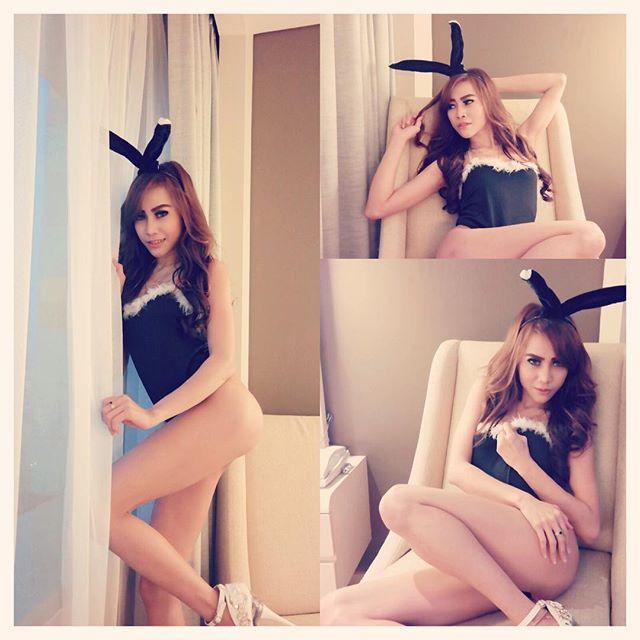 Dewi Purnama Ssari Hot Photoshoot Ala Bunny
