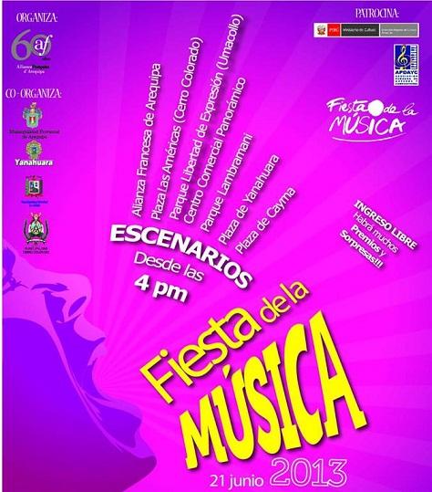 La Fiesta de la Música en Arequipa (21 junio)