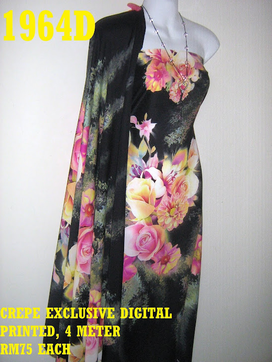 CDP 1964D: CREPE EXCLUSIVE DIGITAL PRINTED, 4 METER