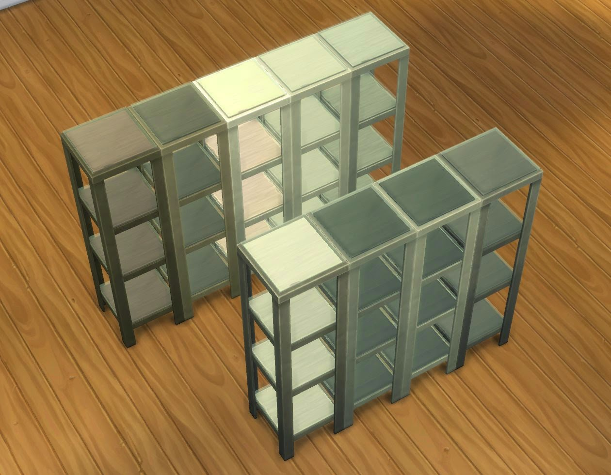 Very Impressive portraiture of My Sims 4 Blog: RAW Shelves by plasticbox with #744F27 color and 1260x980 pixels
