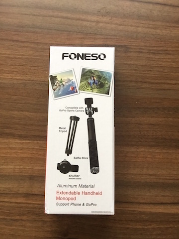 meine produkttests foneso bluetooth selfie stick mit stativ f r smartphone kamera schwarz. Black Bedroom Furniture Sets. Home Design Ideas
