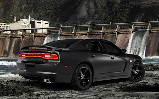 Black Dodge V6 Engine Power HD Wallpaper