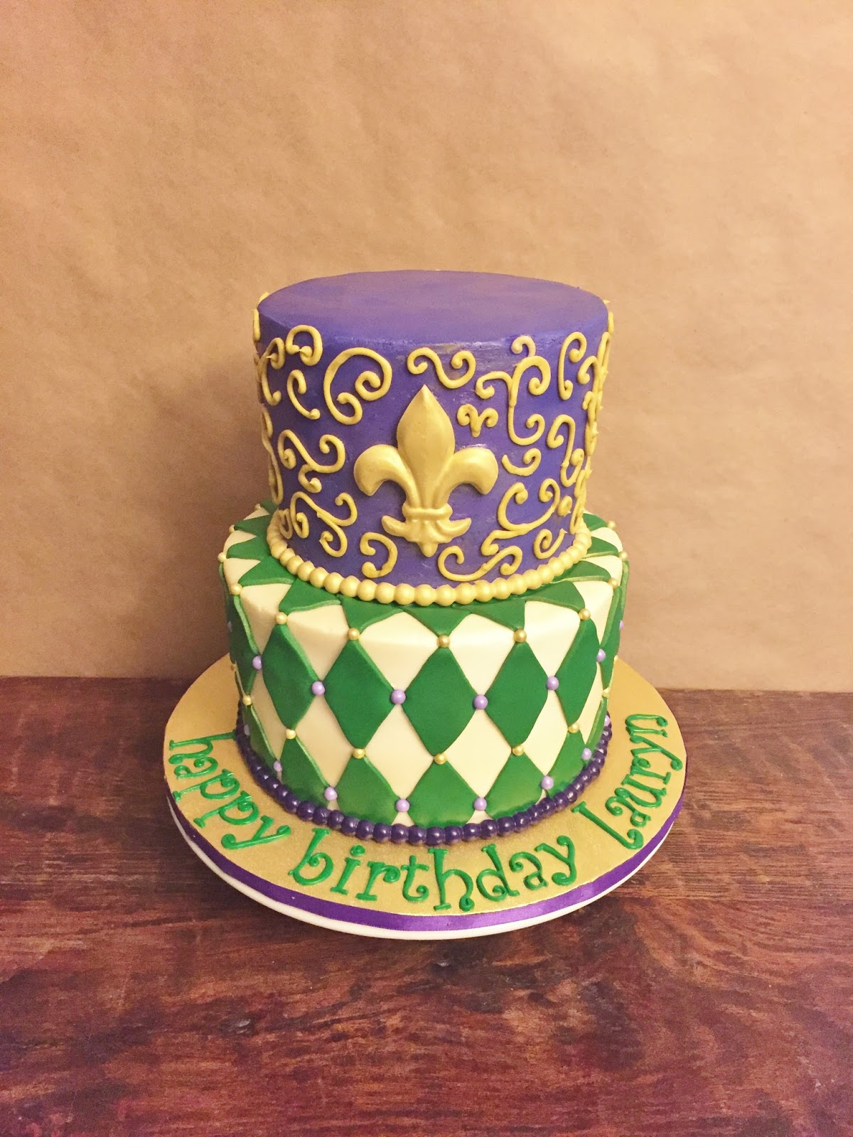 Cakes By Mindy Mardi Gras Birthday Cake 6 8