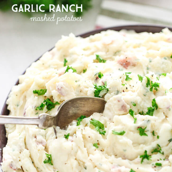 Garlic Ranch Mashed Potatoes by Spend with Pennies