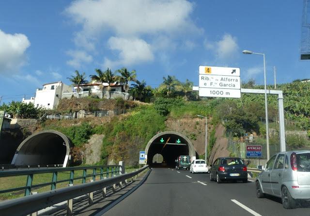 Schnellstraße auf Madeira