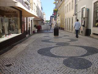 beautiful Portuguese Sidewalk street  photo - Figueira da Foz  - Portugal