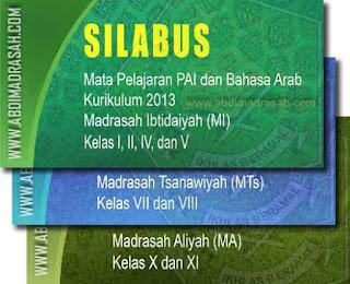 Silabus Mapel PAI Dan Bahasa Arab Madrasah Kurikulum 2013