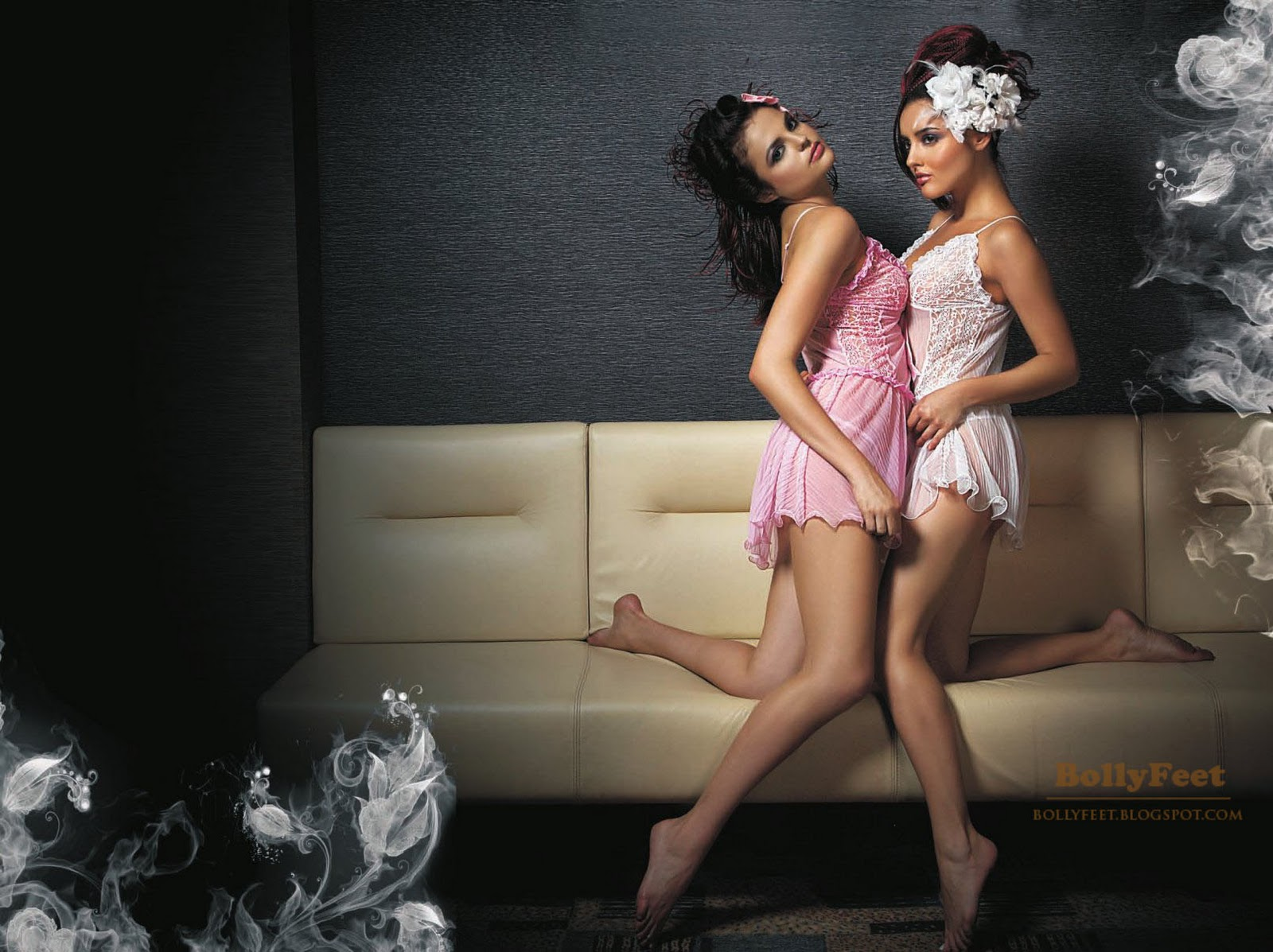 Sexy Indian models in Nightwear