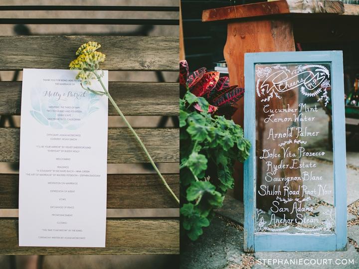 garden wedding at stable cafe