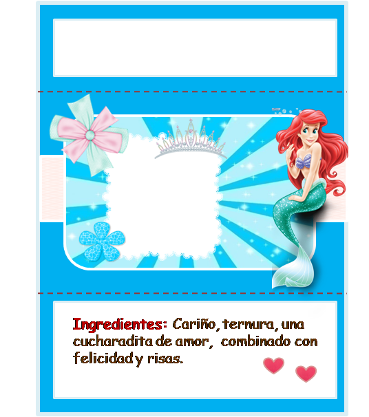 Free Printable Chocolate Wrappers for your Little Mermaid ...
