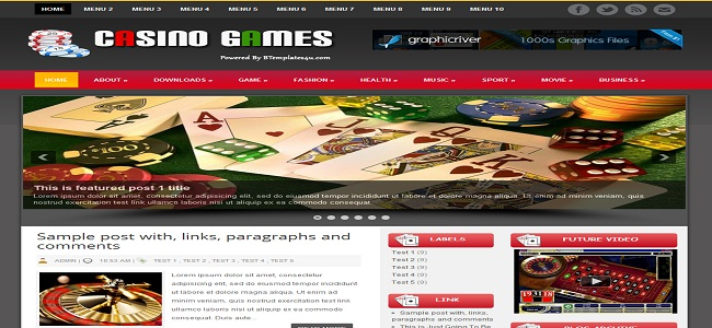 casino blogger template