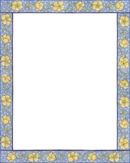 Marcos con flores para imprimir
