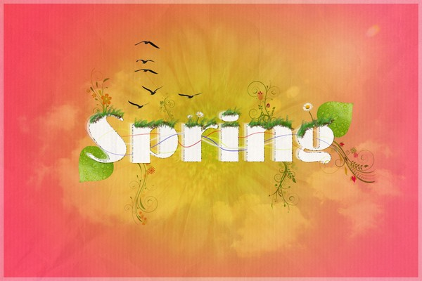 Photoshop Background Tutorials Passing of Spring
