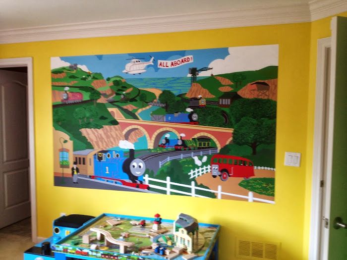 Junior's Thomas the Train room