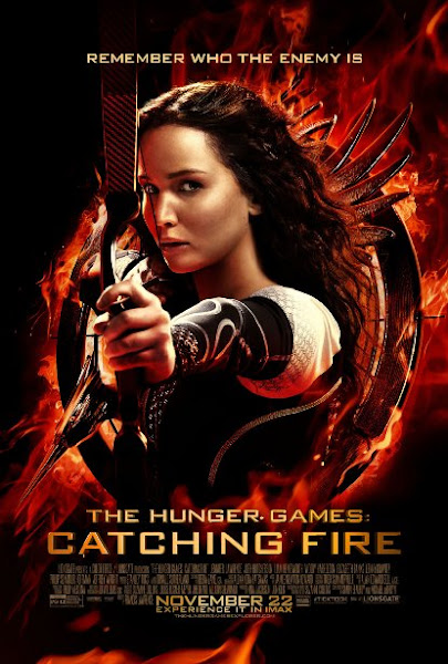 Poster Of The Hunger Games Catching Fire 2013 720p Hindi BRRip Dual Audio