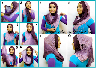 Cara Memakai Jilbab Crumple