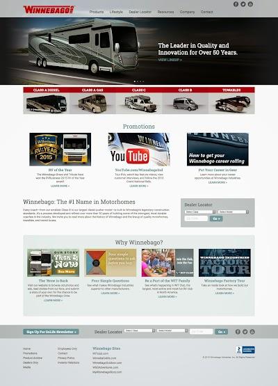 Winnebago launches new website design