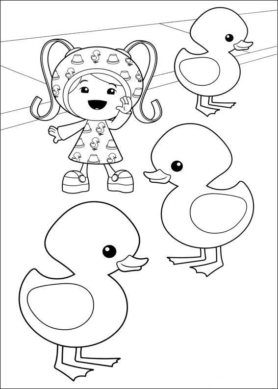 Equipo Umizoomi para colorear y pintar ~ Colorea el dibujos