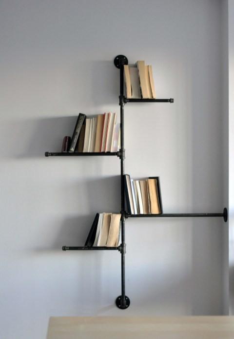 catalogue of inspiration diy bookshelf made of pipe