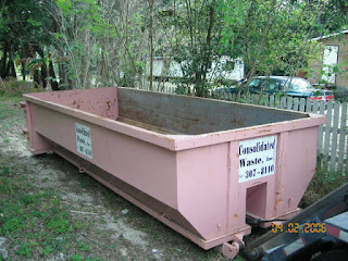 Dumpster container picture from Ocala property.