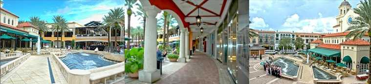 West Palm Beach's CITY PLACE is just over the bridge from Palm Beach