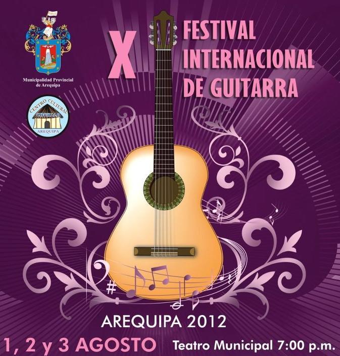 X Festival Internacional de Guitarra - 01, 02 y 03 de Agosto