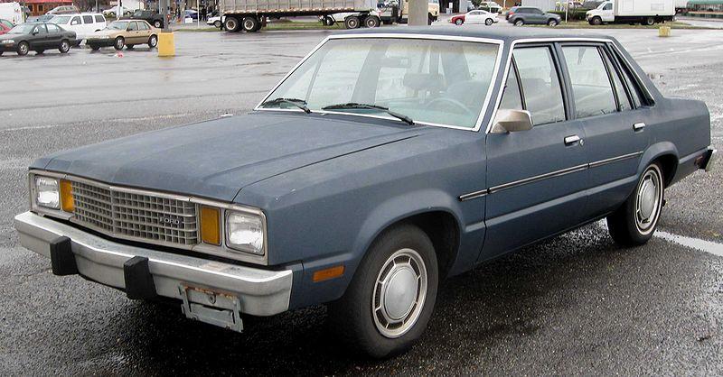 Ford Fox, ставшая в