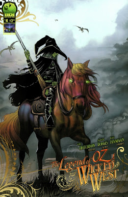 B cover to The Legend of Oz: The Wicked West #4