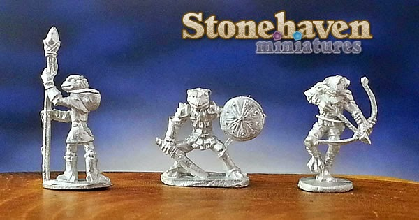 W3: Stonehaven Miniatures' Grippli :: Finally, Actual Grippli Minis