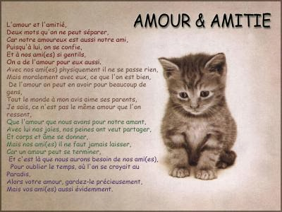 Poeme d'amour et d'amitié en image