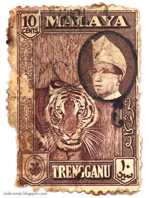 Setem Malaya gambar harimau