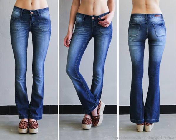 Moda pantalones oxford de jeans 2014 Sweet.
