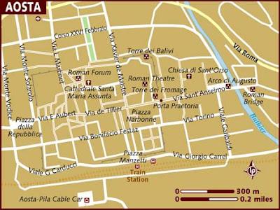 Mappa Aosta Italia