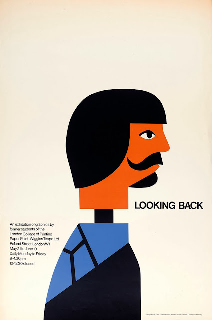 Exhibition poster by Tom Eckersley. Exhibited at London College of Communication