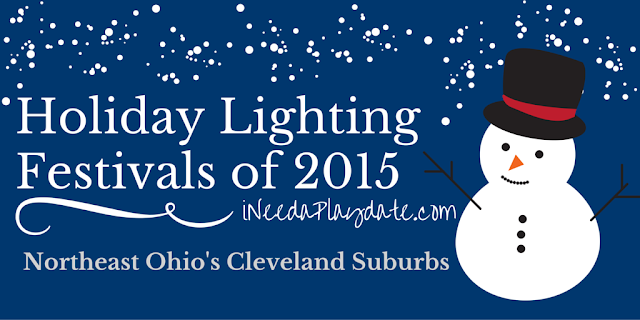 Holiday lighting ceremonies in Northeast Ohio and Cleveland Suburbs