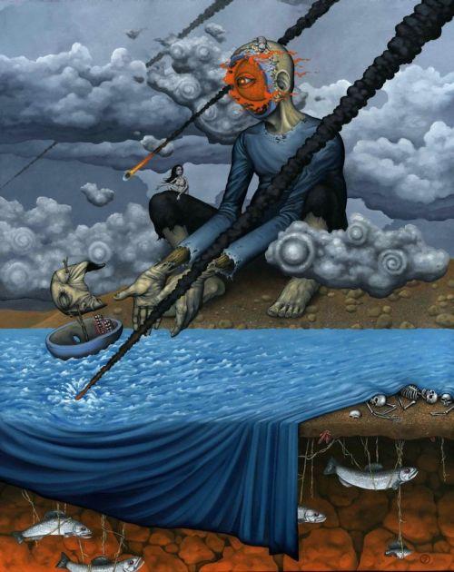 Jeff Christensen js4853 deviantart pinturas surreais sombrias Horas de desespero