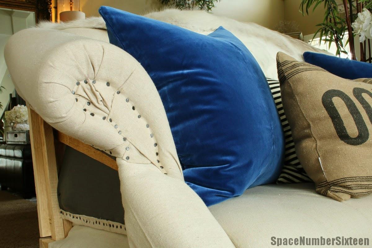 Blue Velvet Pillows WillaSkyeHome