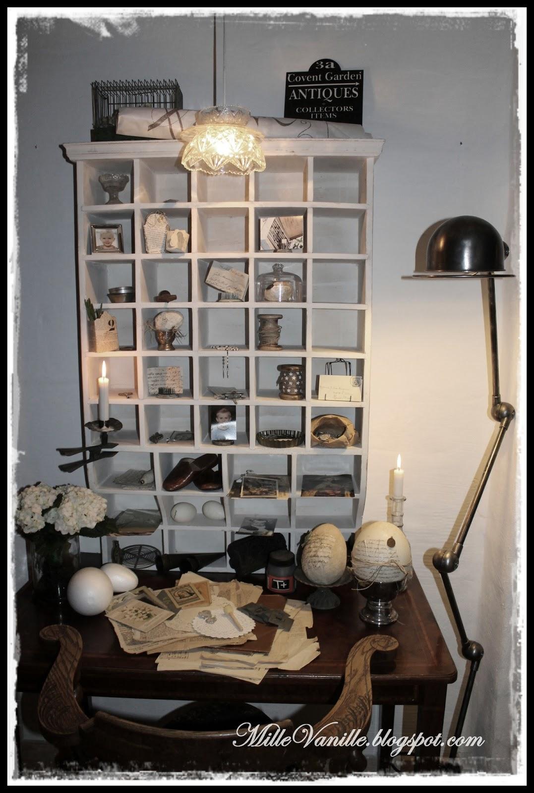 Velkommen til MilleVanille: Nyt krea kontor i stuen...