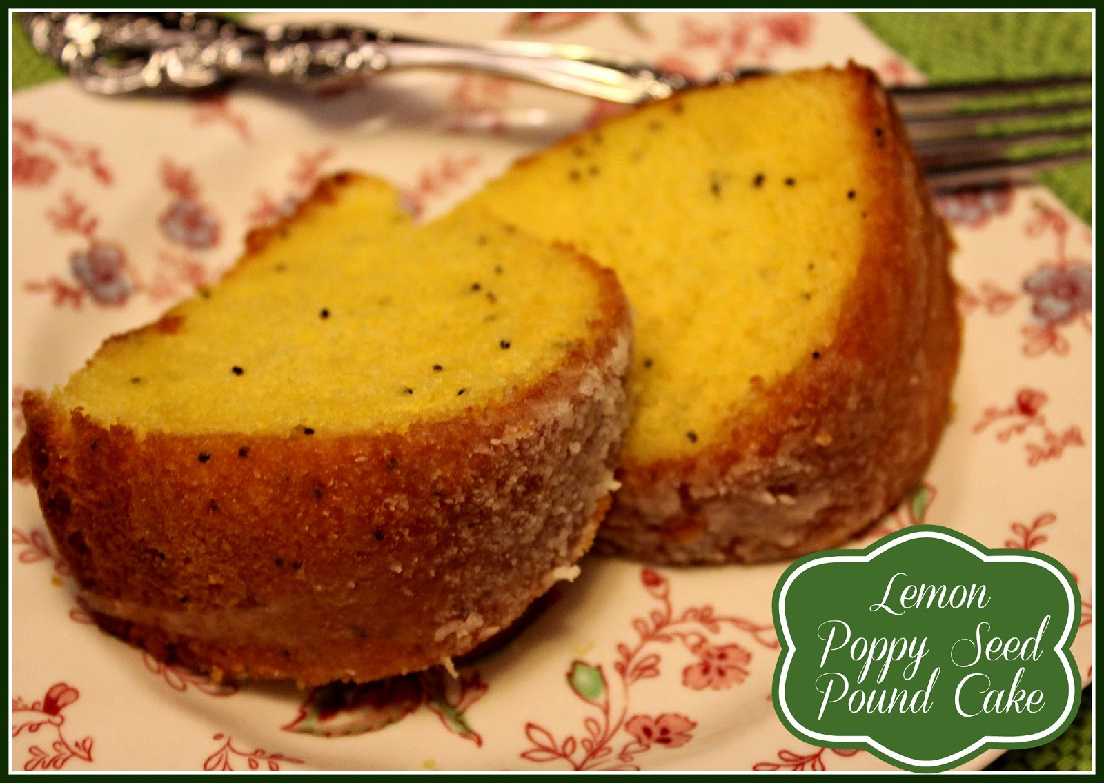 Sweet Tea and Cornbread Lemon Poppy Seed Pound Cake