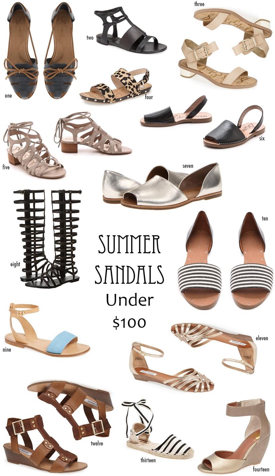 Summer Sandals under $100