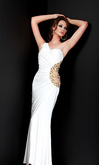 Модне вечірнє біле плаття 2011 для типу