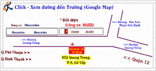 * Hướng dẫn đi đến Trường => Click vào sẽ hiện bản đồ trên Google Map !